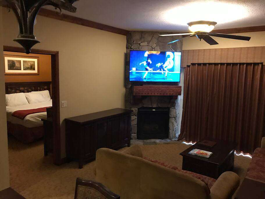 Tv's in living room and bedroom
