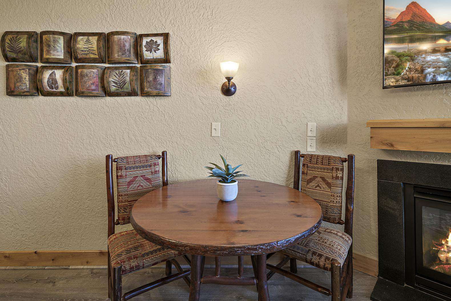 Living room dining table for 2