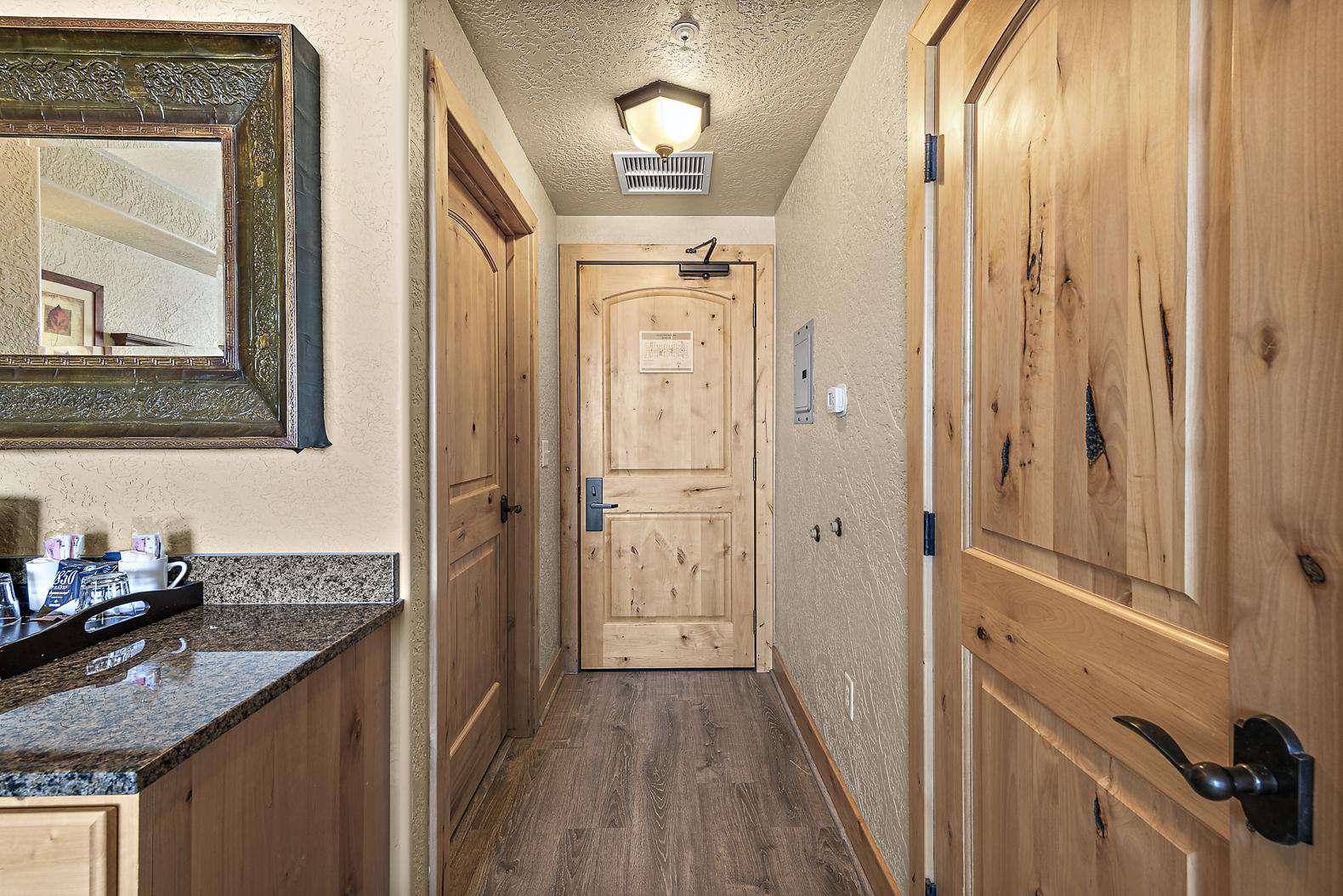 Private master bedroom entrance hallway