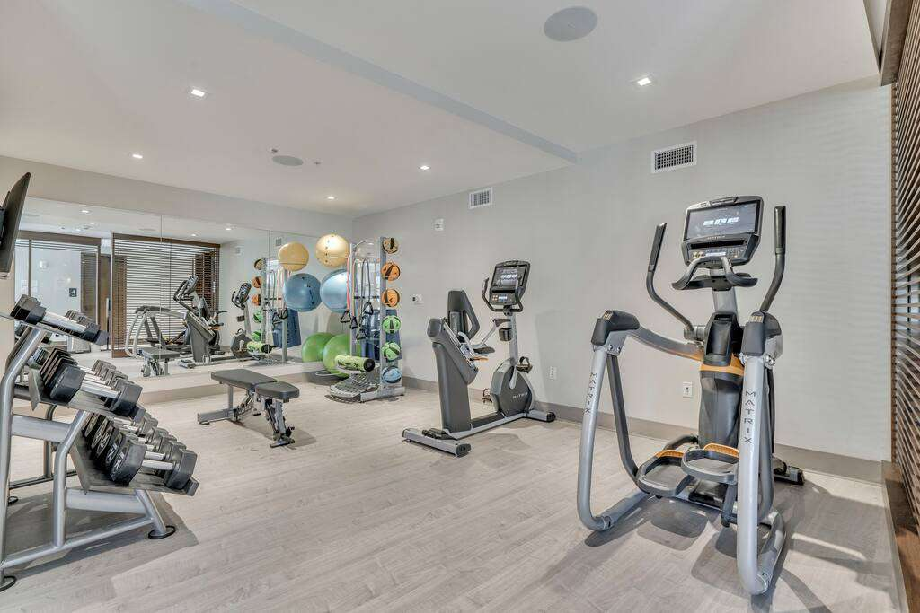 Fitness area at The Lift Residences Park City