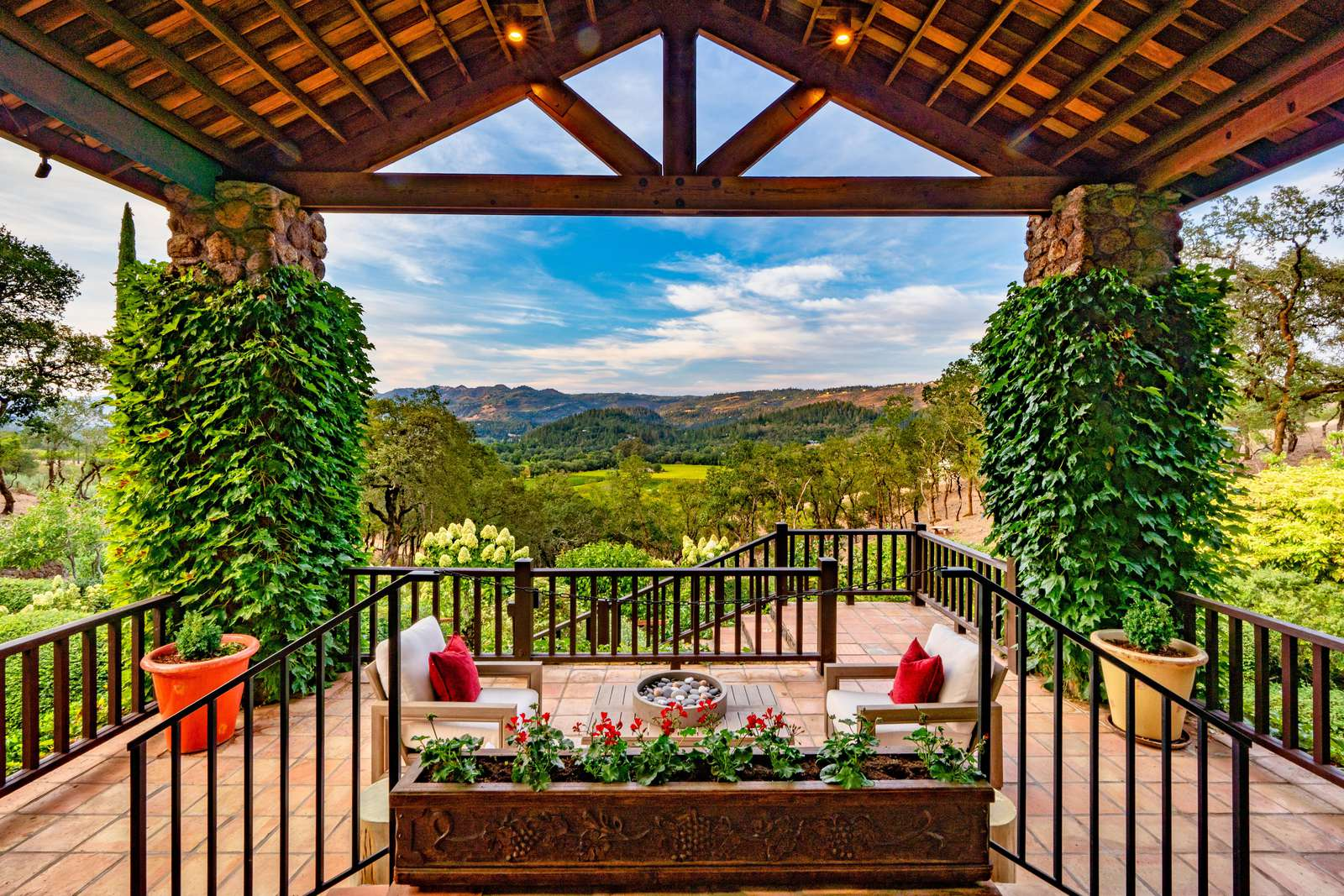 Front Lania view Toward Eastern Hills of Napa Valley - property