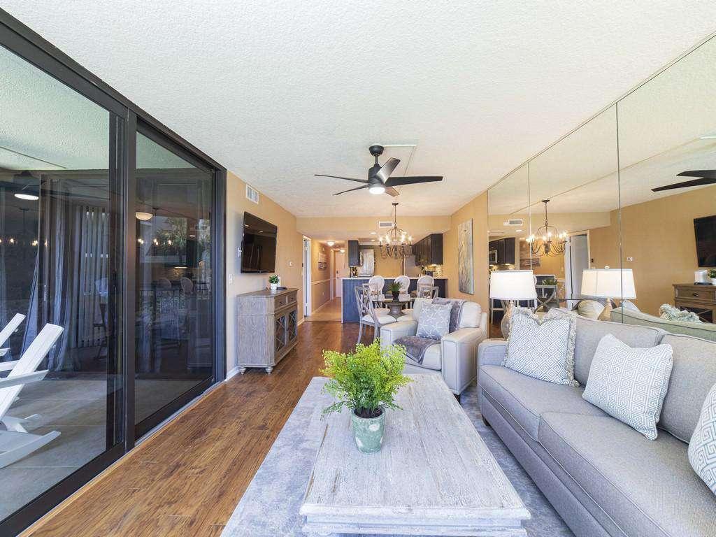 Anastasia Condos - Living Room and Ocean View Balcony