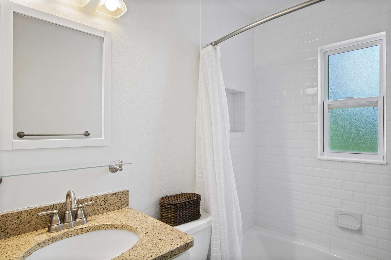 Bathroom with tub / shower combination