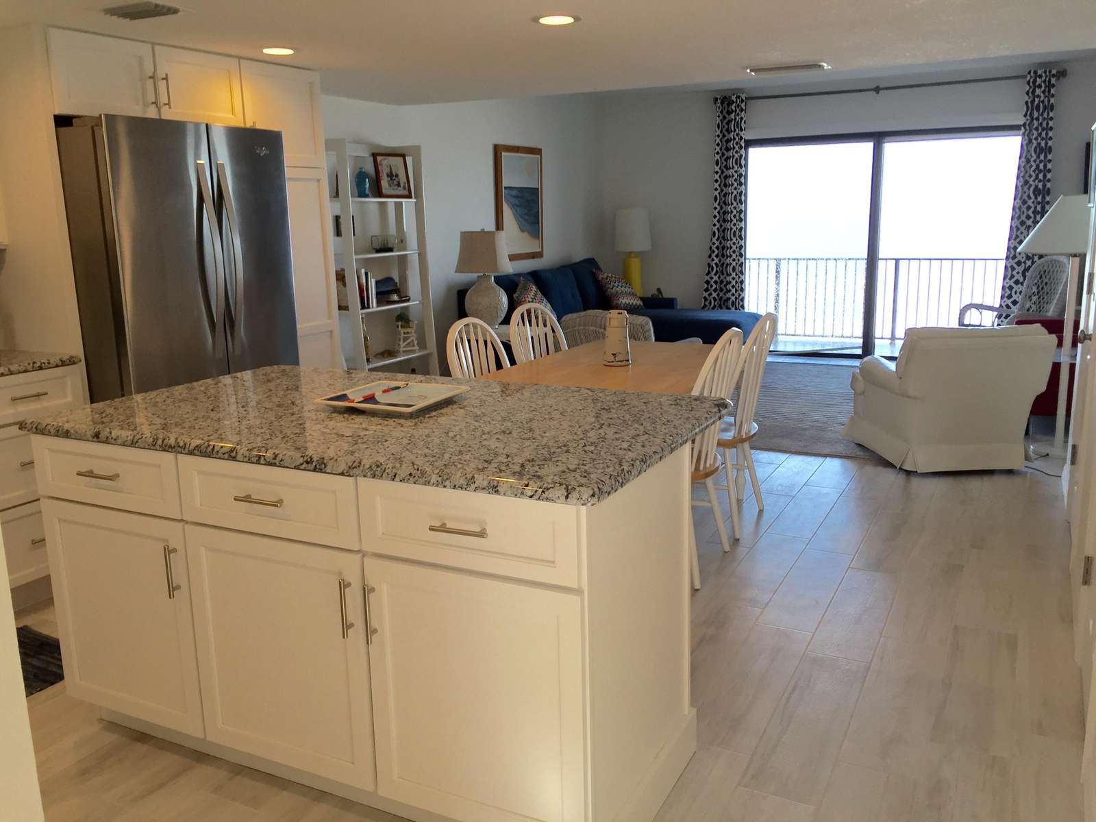 Open Kitchen with view of Ocean