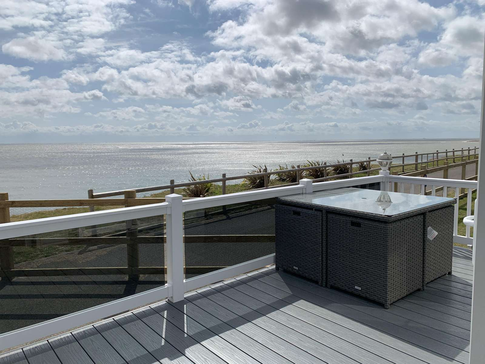 68026CV – CVS area, 2 bed, 6 berth lodge with full sea views and decking. Platinum rated. - property