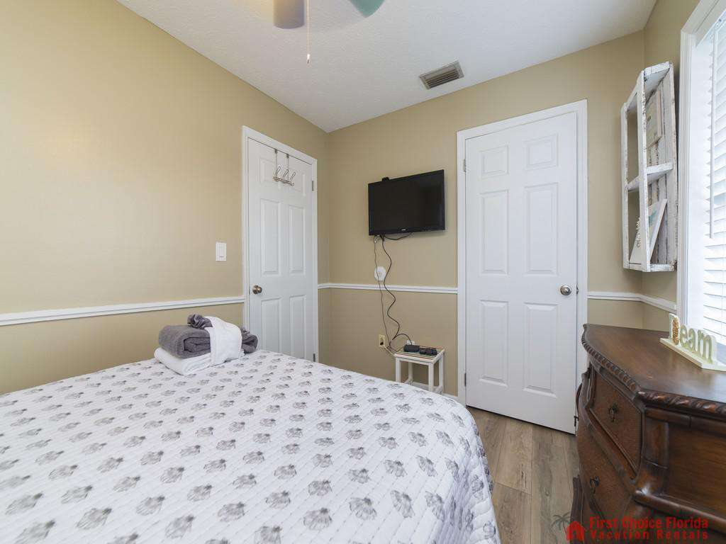 Sandy Feet Retreat - Guest Bedroom with TV