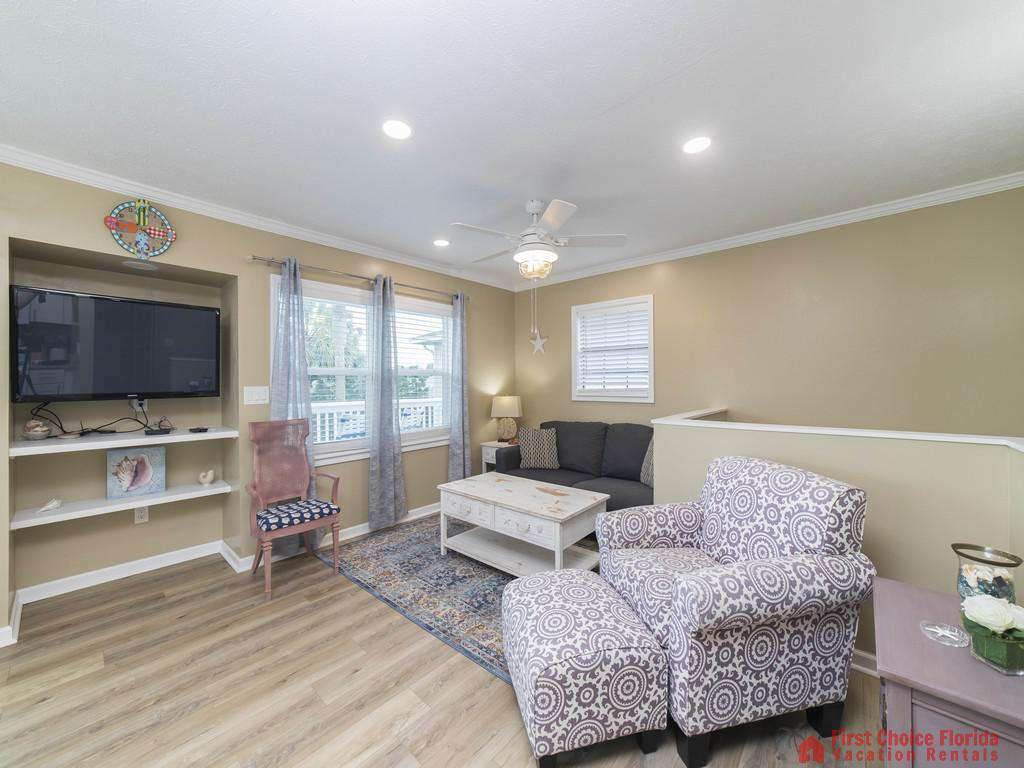 Sandy Feet Retreat - Living Room with TV