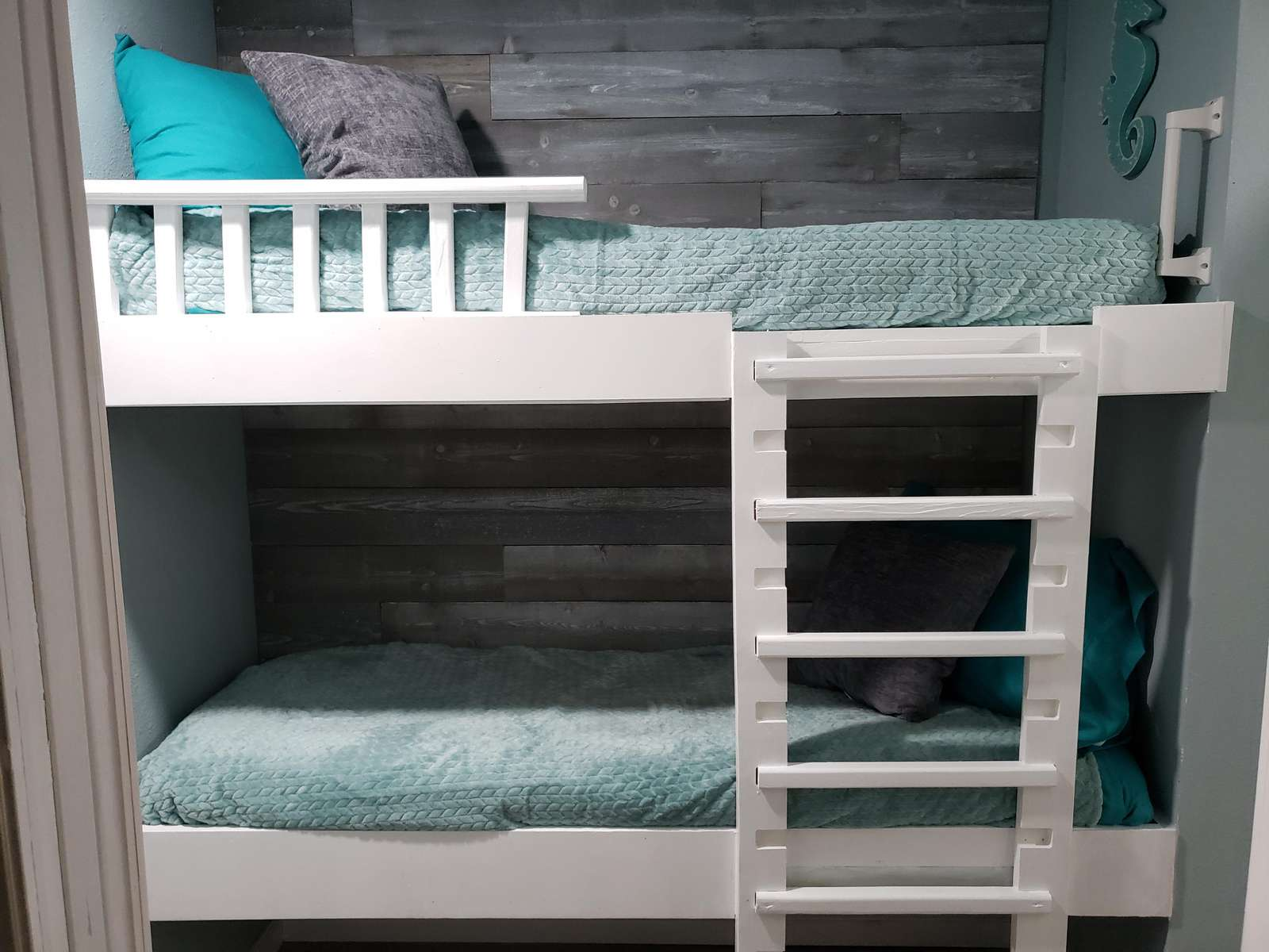kids LOVE our custom built bunkbeds