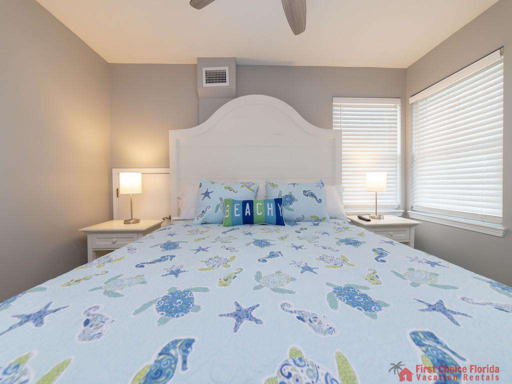 Sea Renity Bed with Light at Windows
