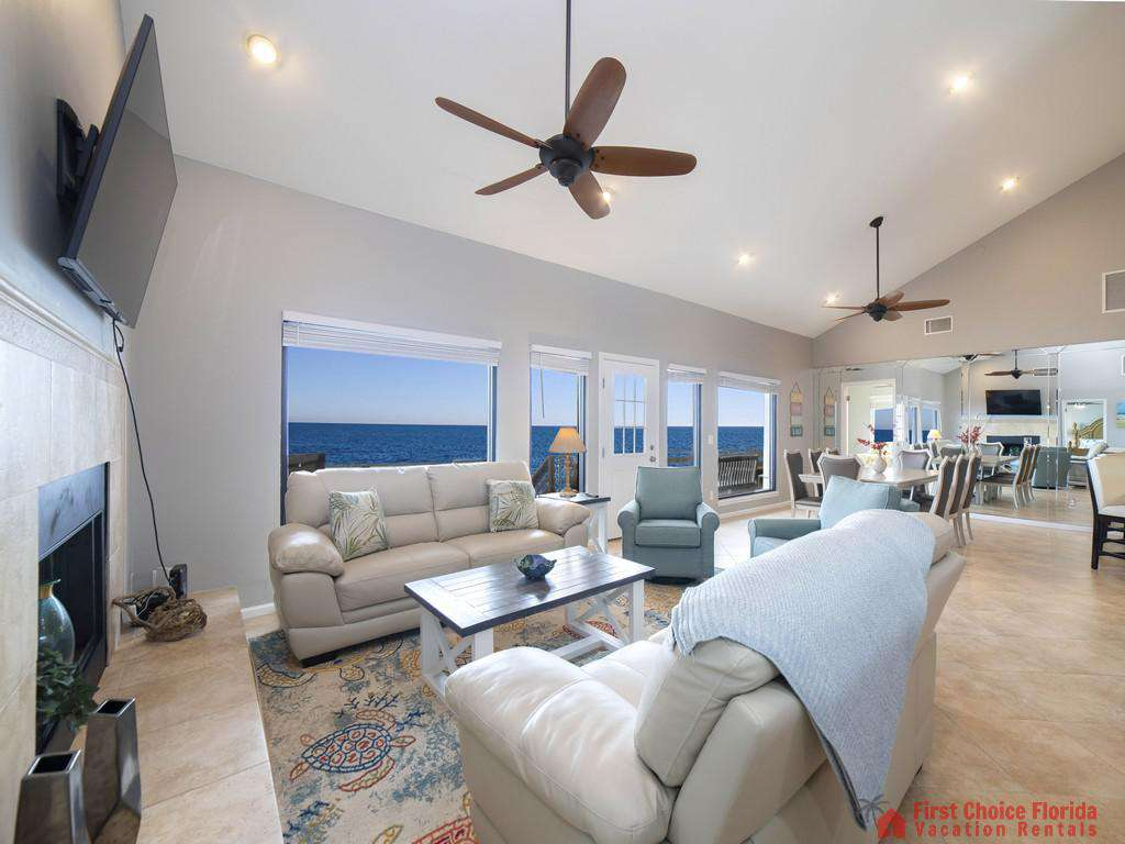 Sea Renity Living Room to Dining Area