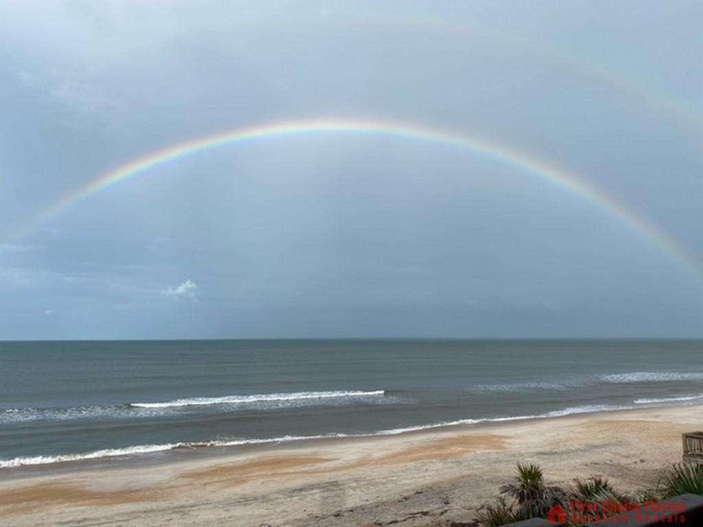 Sea Renity Rainbow over Beach