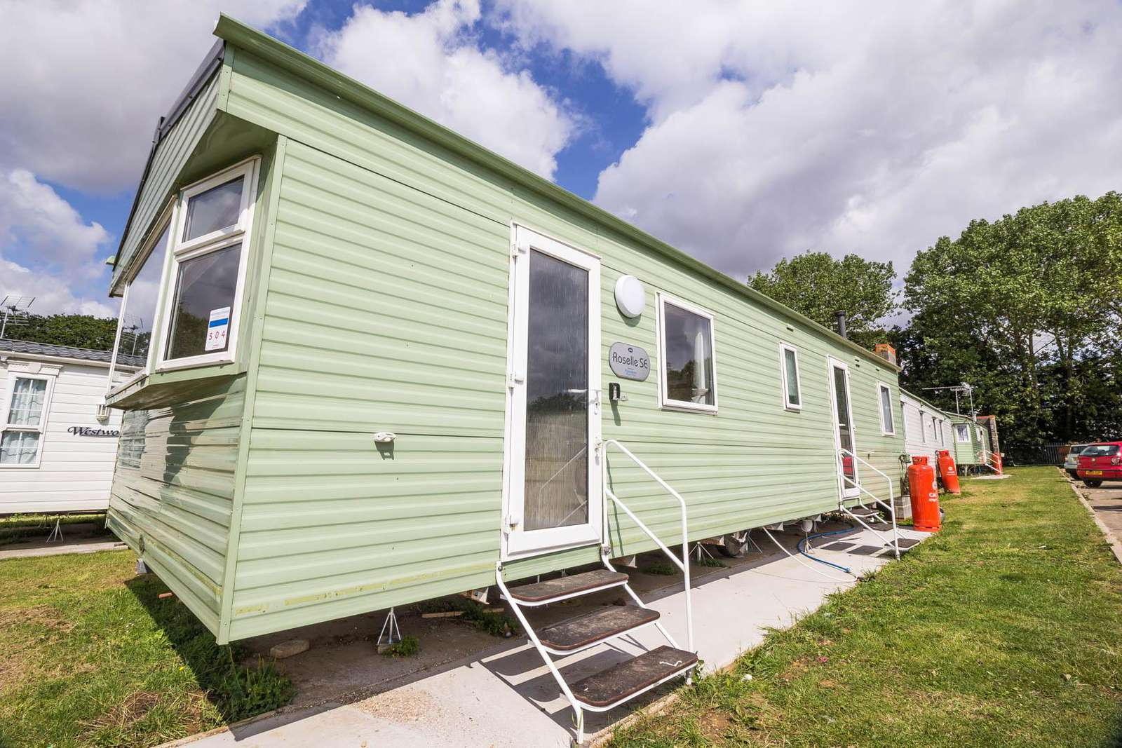 26504O – Orchards area, 3 bed, 8 berth caravan with double glazing. Ruby rated. - property