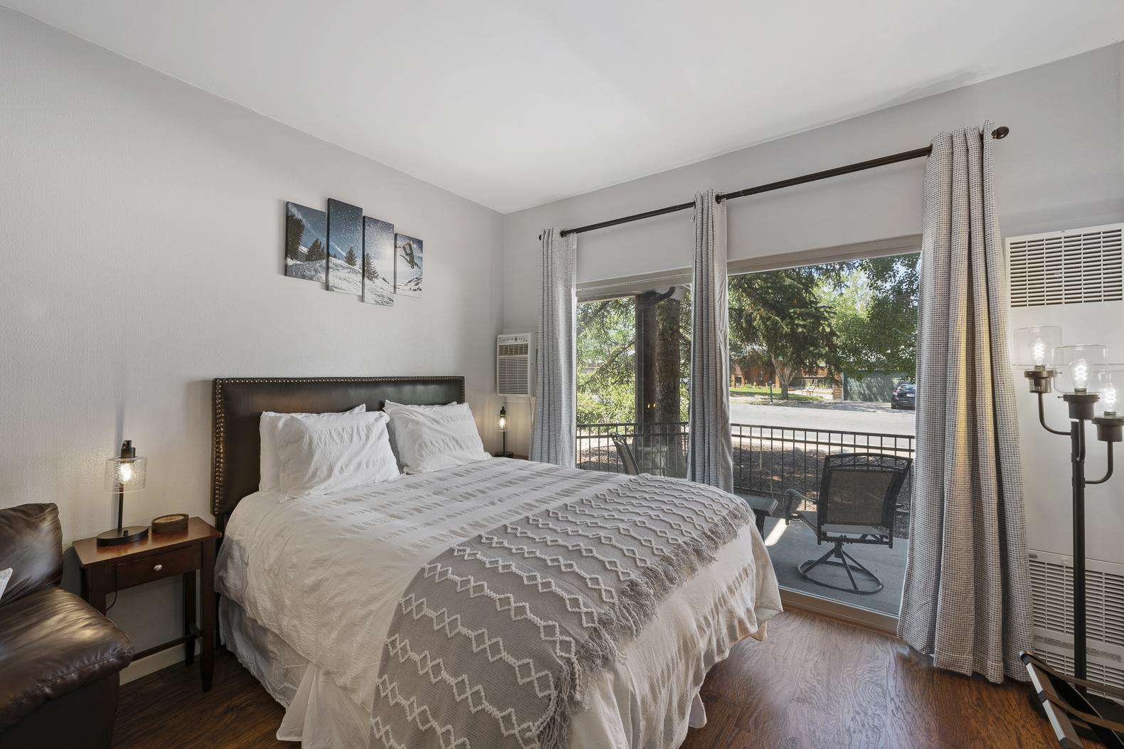 Queen Bed with Natural Light
