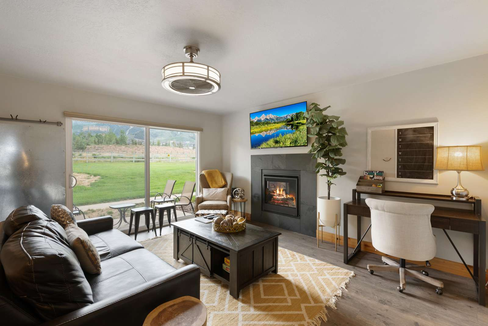 Living Room with Open Views