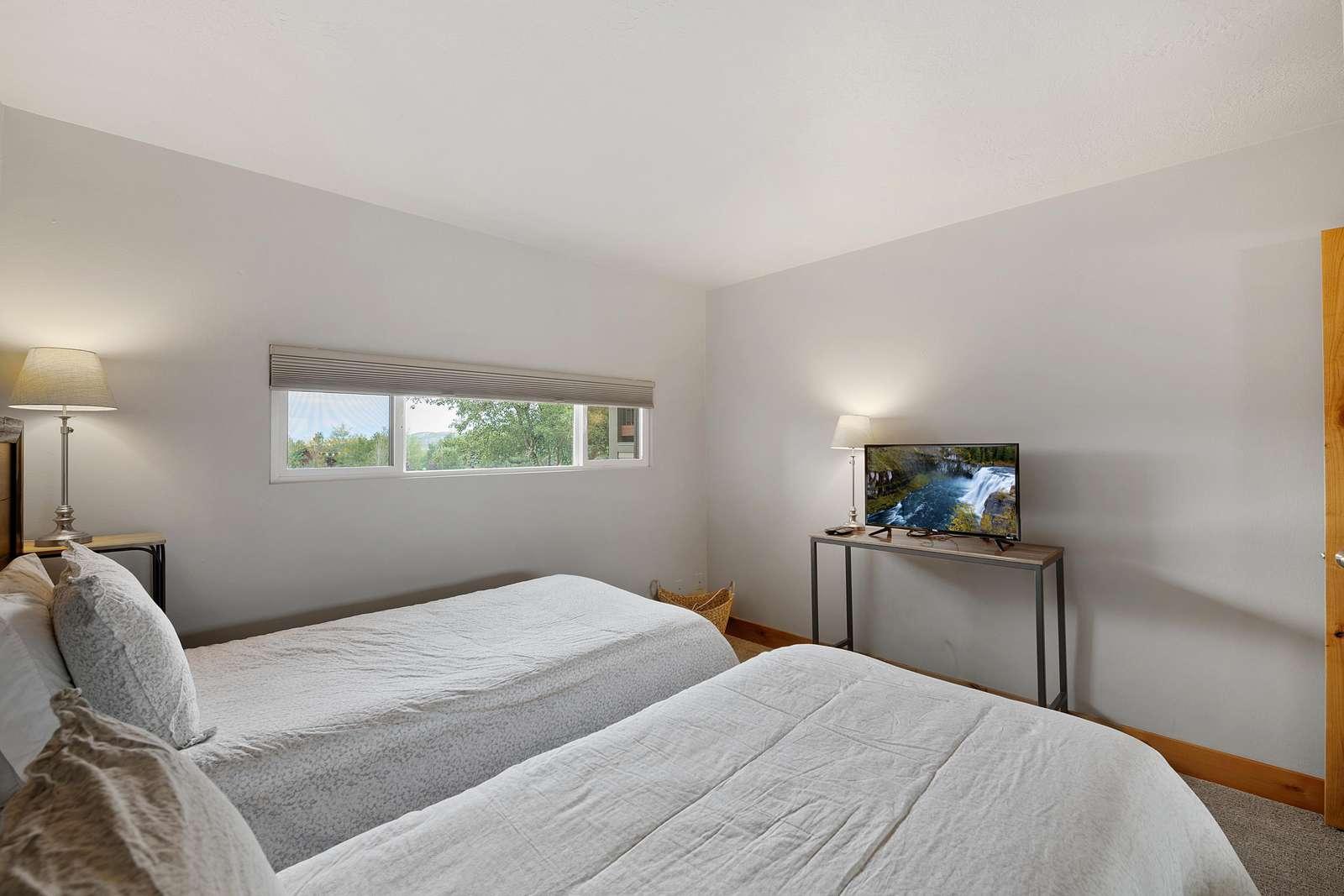Guest Bedroom with Roku TV