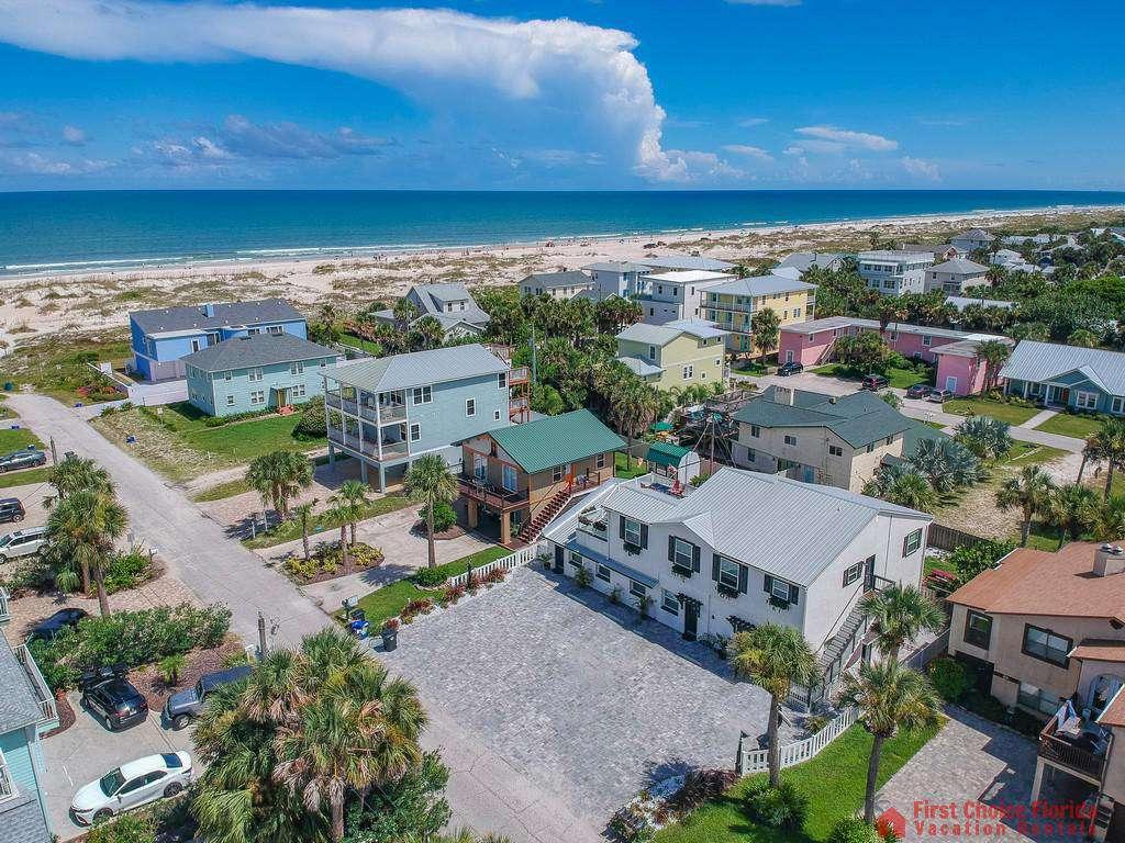Island Retreat Unit D Aerial Beach View