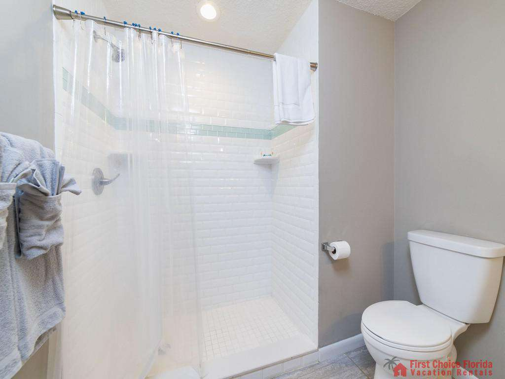 Island Retreat Unit D Shower in Bathroom