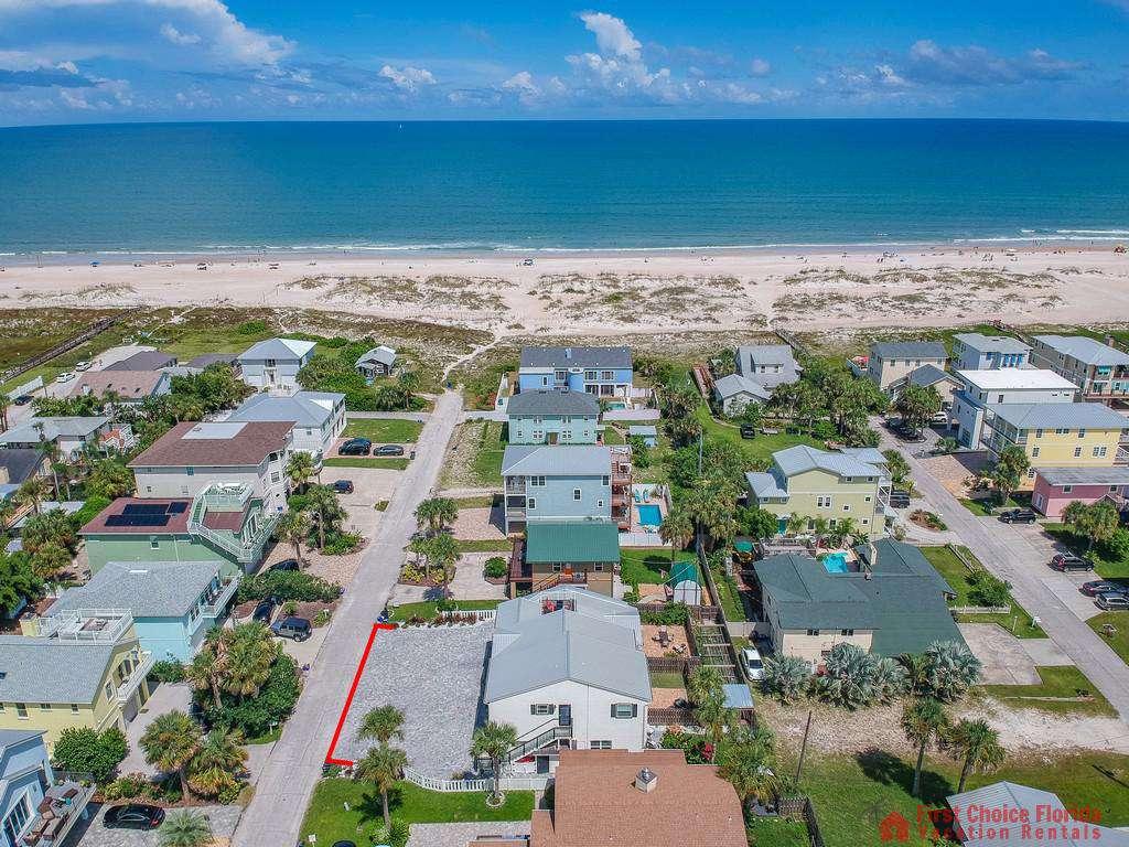 Island Retreat Unit C Aerial Ocean View