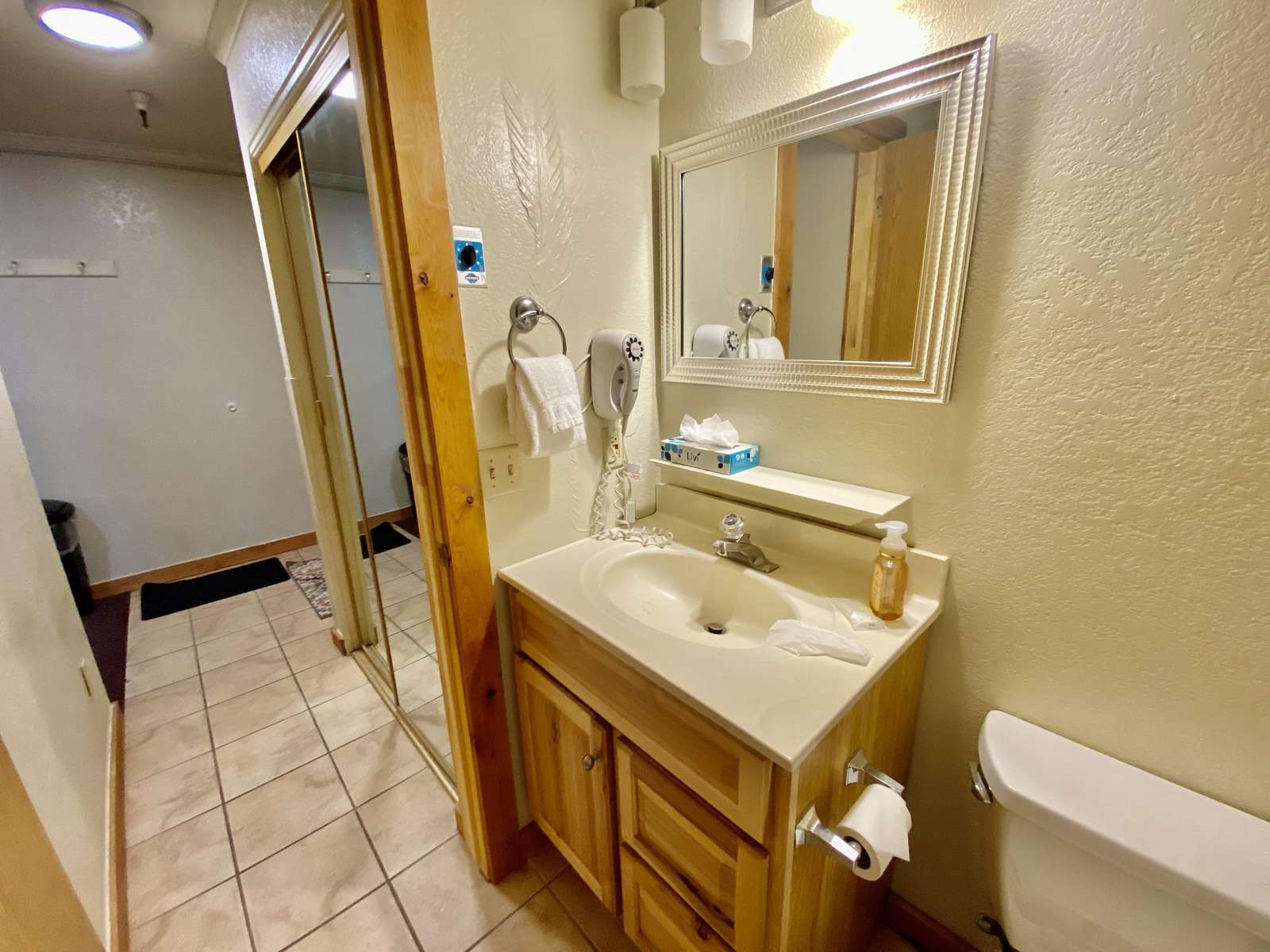 Bathroom and Studio Entrance