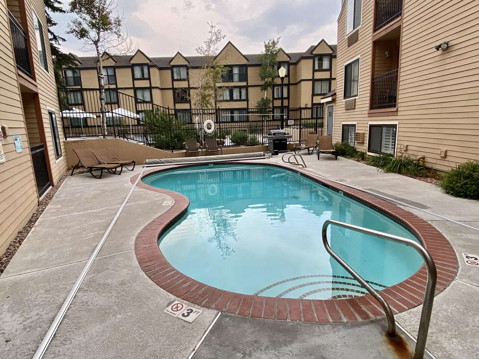 Community Pool with Community Grill