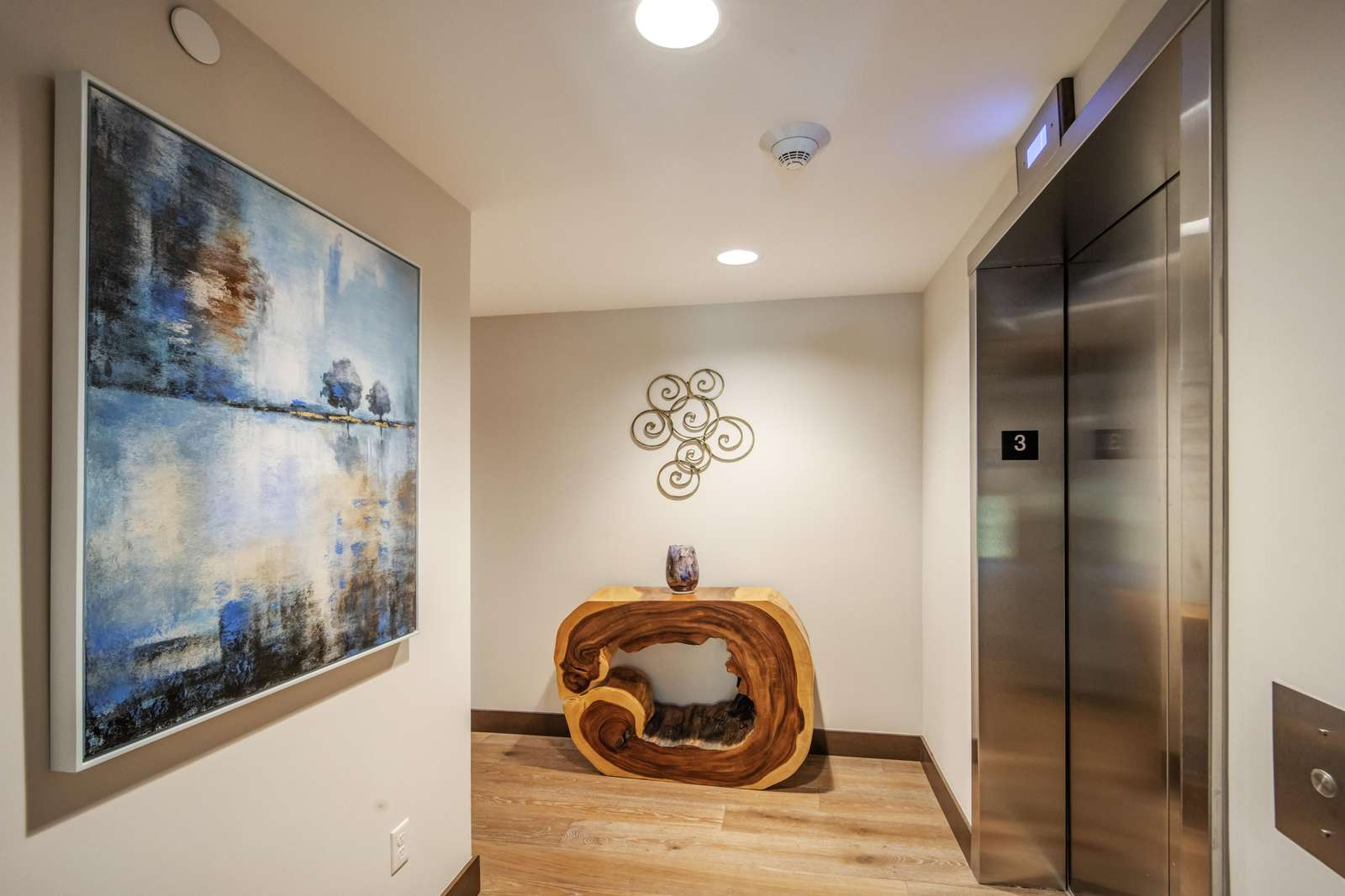 Upstairs Elevator Entry