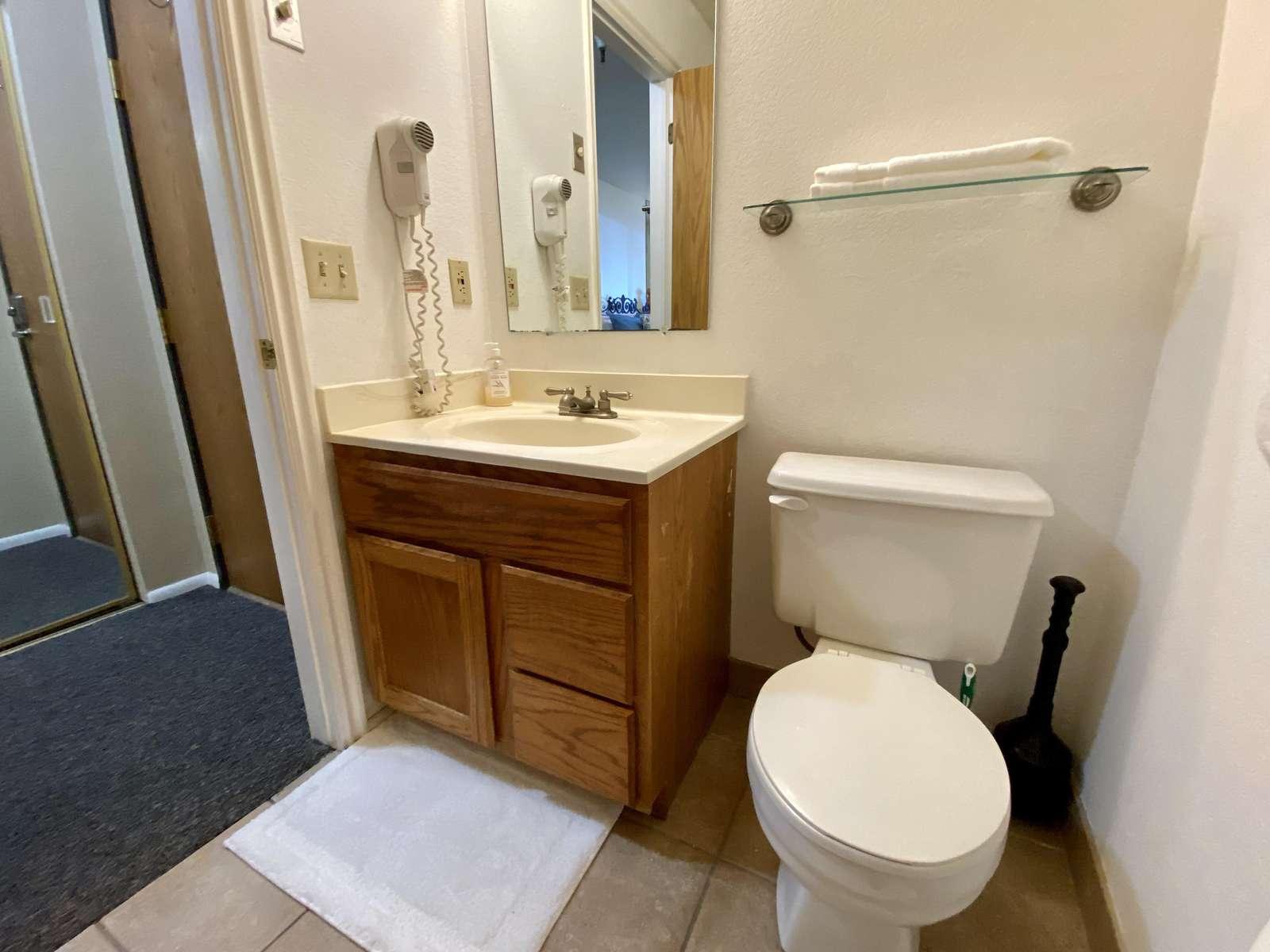 Bathroom w/Hair Dryer