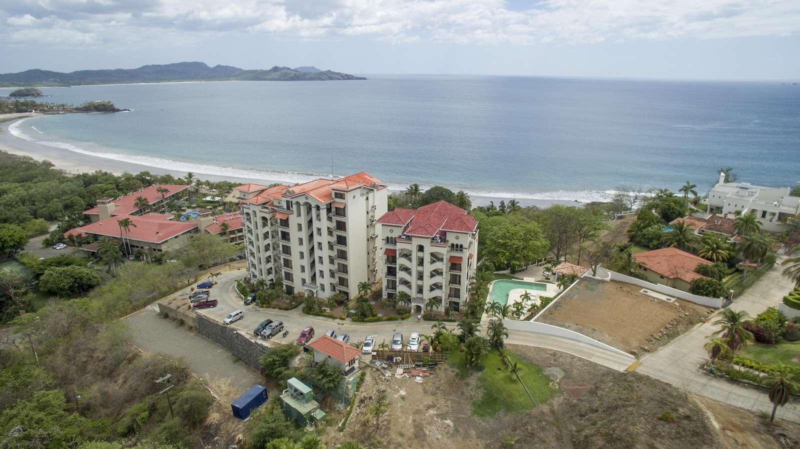 Aerial view of Oceanica and Flamingo Beach